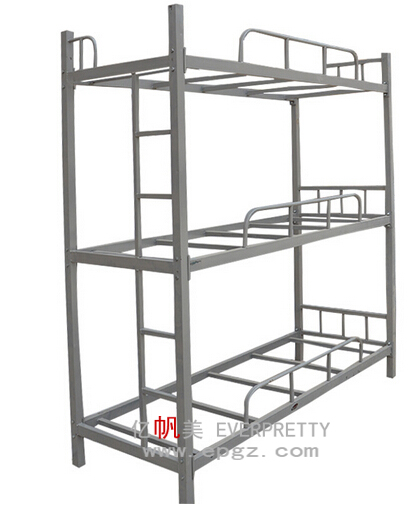 Modern heavy duty adult steel triple metal loft bunk beds for 3 bed bunk beds for sale
