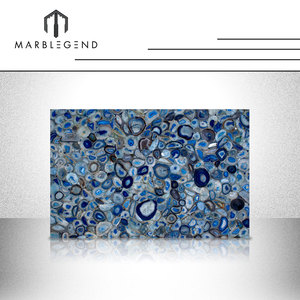 Brazil buyer of blue agate stone slab with high quality