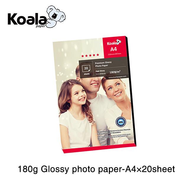 डिजिटल उच्च गुणवत्ता संयुक्त कार्यालय 180gsm इंकजेट चमकदार कास्ट लेपित फोटो कागज A4