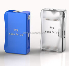 hot selling SMY latest e cig box mod kungfu v3 and ecig accessories e cig mods 26650 box mod