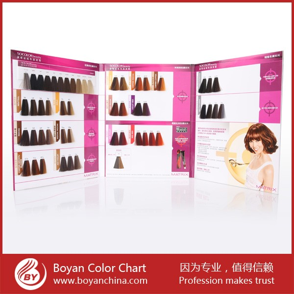 hot selling hair color chart iso hair color swatch for hair color cream - Matrix So Color Swatch Book
