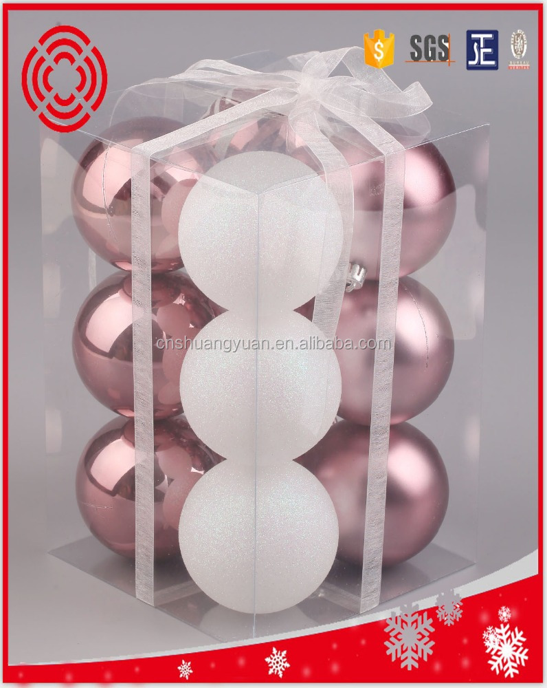 cheap 8cm plastic christmas ball