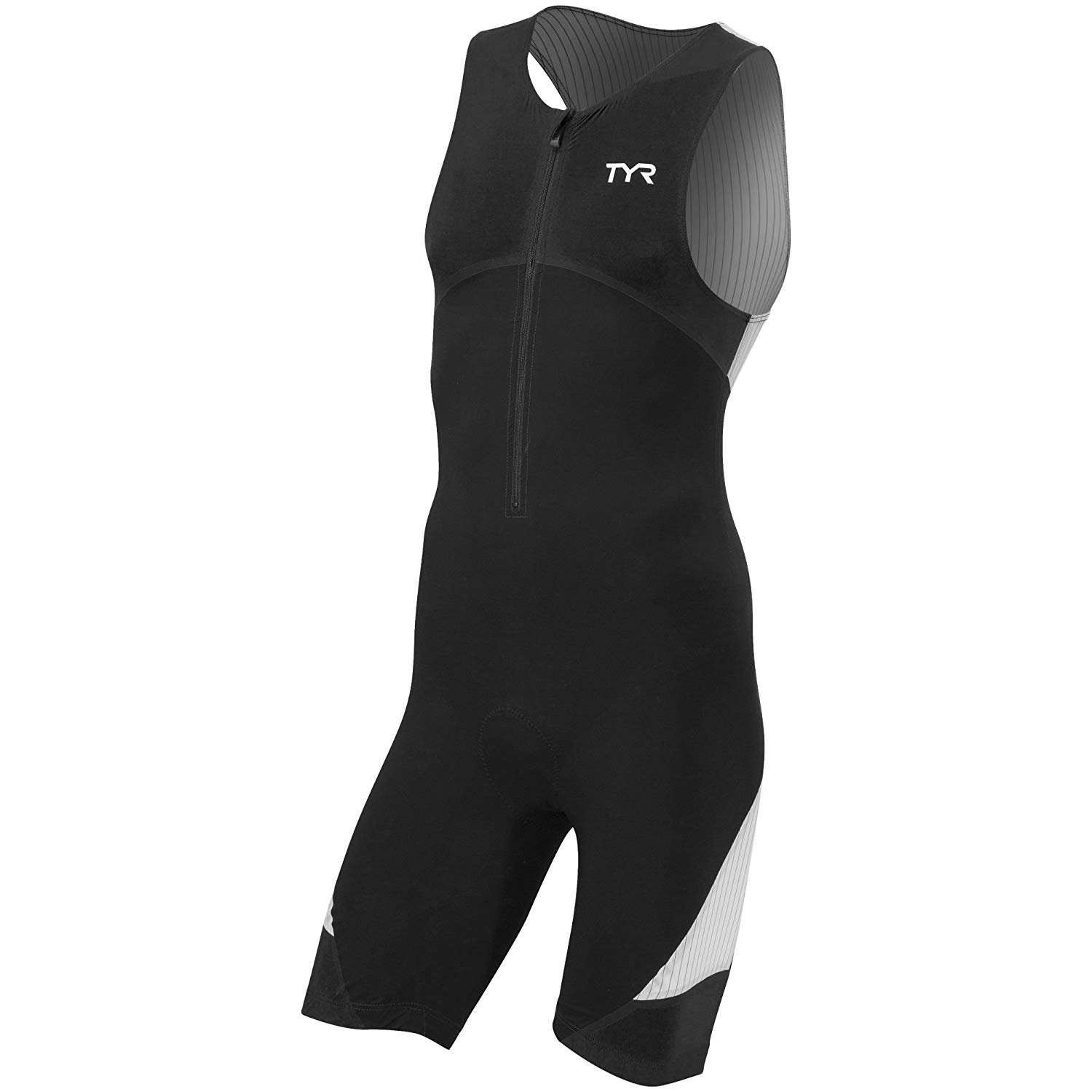 261209deeaa Get Quotations · TYR Men s Carbon Padded Front Zip Tri Suit