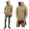 New design wholesale oversized hoodies ripped damage men french terry cotton hoodies sweatshirts casual pullover jumpers