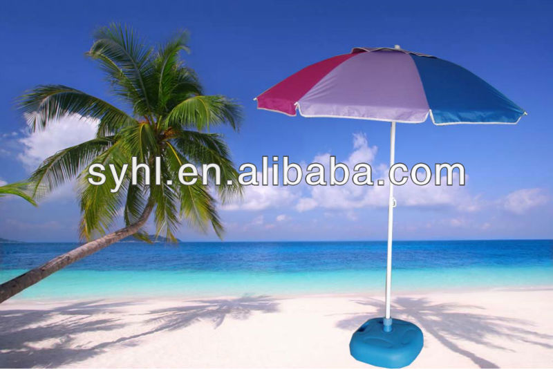 36inch Beach Umbrella with Vent in UV coated fabric