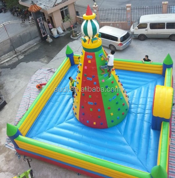 hot sale inflatable rock climing wall