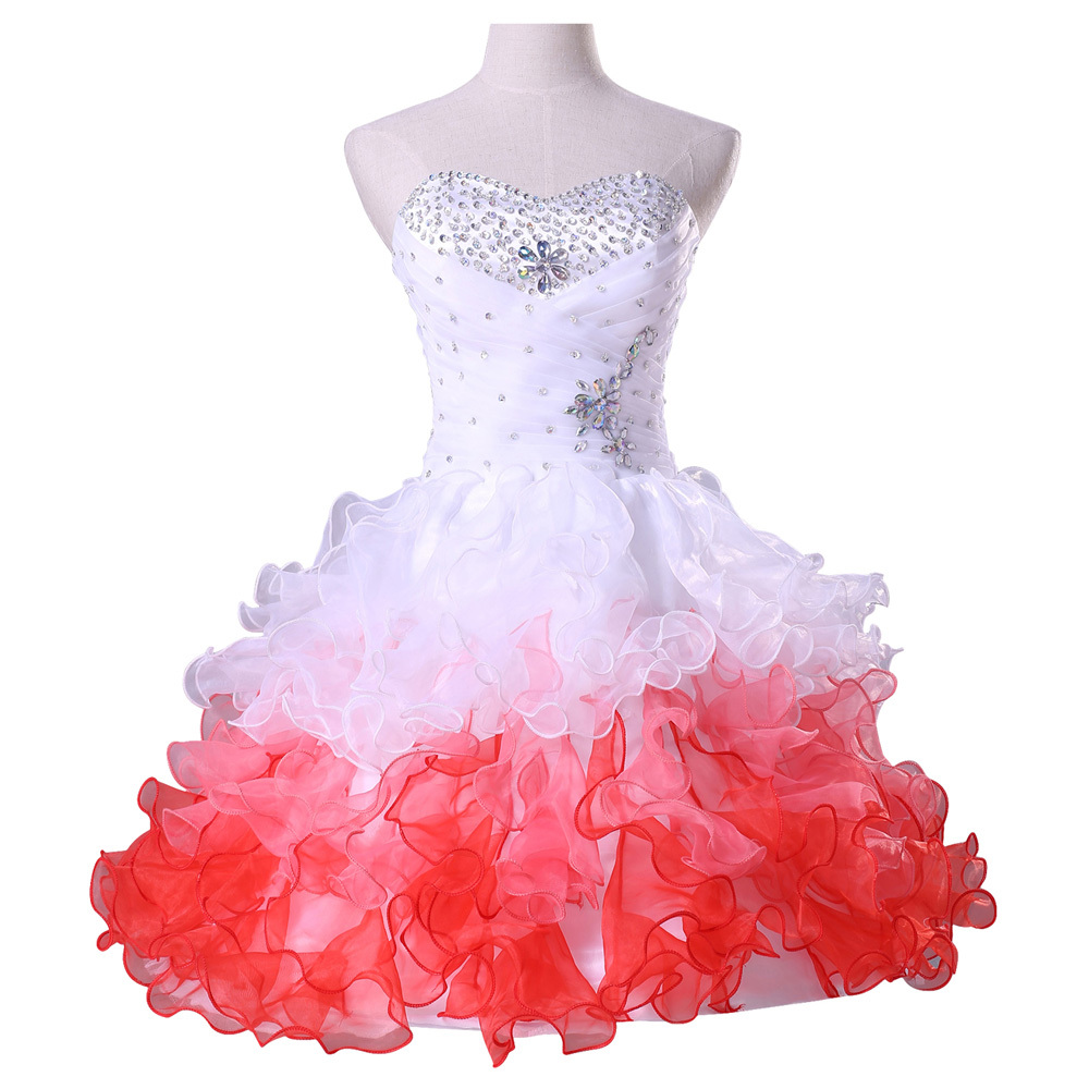5af690709 Grace Karin White Organza Crystal Short robe de Cocktail Dresses 2015  Beaded cheap Party Prom Dresses vestido corto coctel 4977.   32.34. 2015  New Custom ...