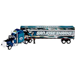 SAN JOSE SHARKS NHL Semi Diecast Tractor-Trailer Truck 1/80 Scale by Upperdeck