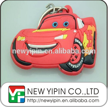 Fashion Soft Pvc Sale Car Cartoons Kids Racing Car Keychains Buy