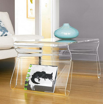 . Custom Modern Stylish Clear Acrylic Storage Furniture For Magazine Racks  Perspex Table With Magazine Holder   Buy Custom Modern Stylish Clear  Acrylic
