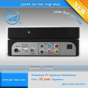 Digital MPEG-2/4 SD DVB-C Cable Set top box with JX CAS