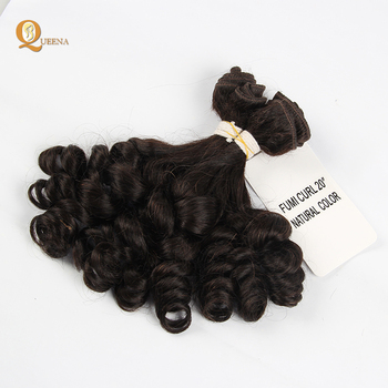 New Style Brazilian Curl Human Hair Bundle Double Drawn Curly Virgin Fumi Hair