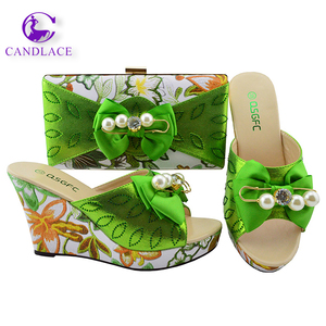 3894566c6cfdd7 Fashion design italian style African Shoes and Matching Bags for wedding