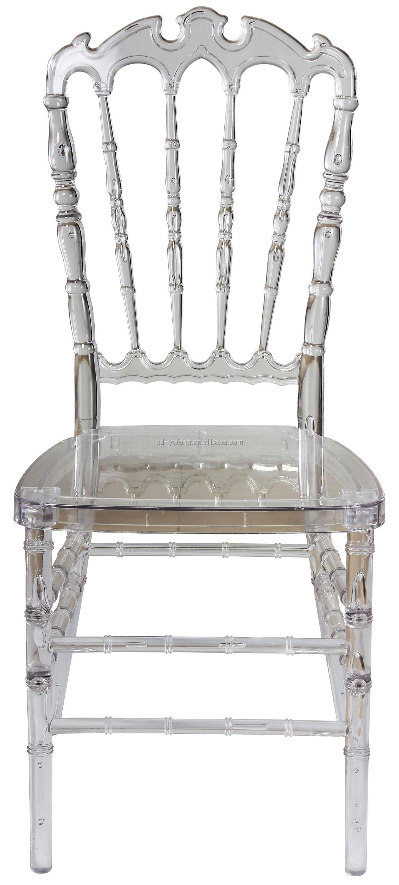 Acrylic Wedding Tiffany High Royal Crown Back Chair Catering