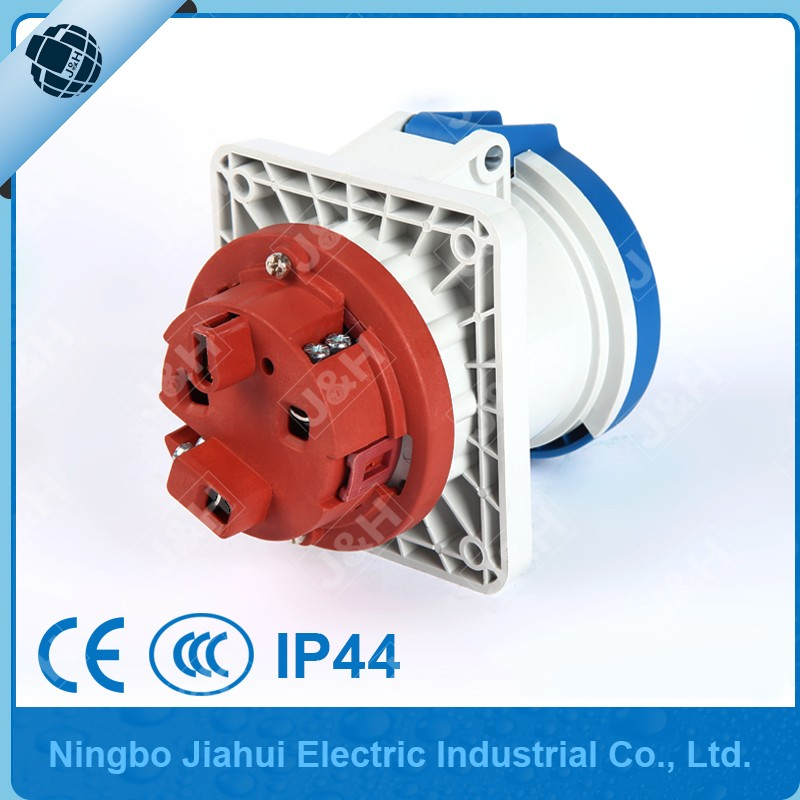 Jiahui supply JH1261 63A 3p 6H european standard waterproof dust-proof socket, industrial female plug and socket