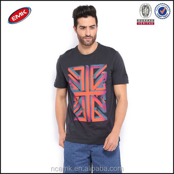 Bulk Clothing For Sale 2014 T Shirt Mens Navy Mini Printed