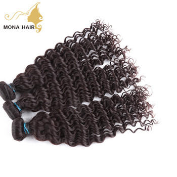 virgin human hair weft hot selling no chemical processing Chinese curly hair