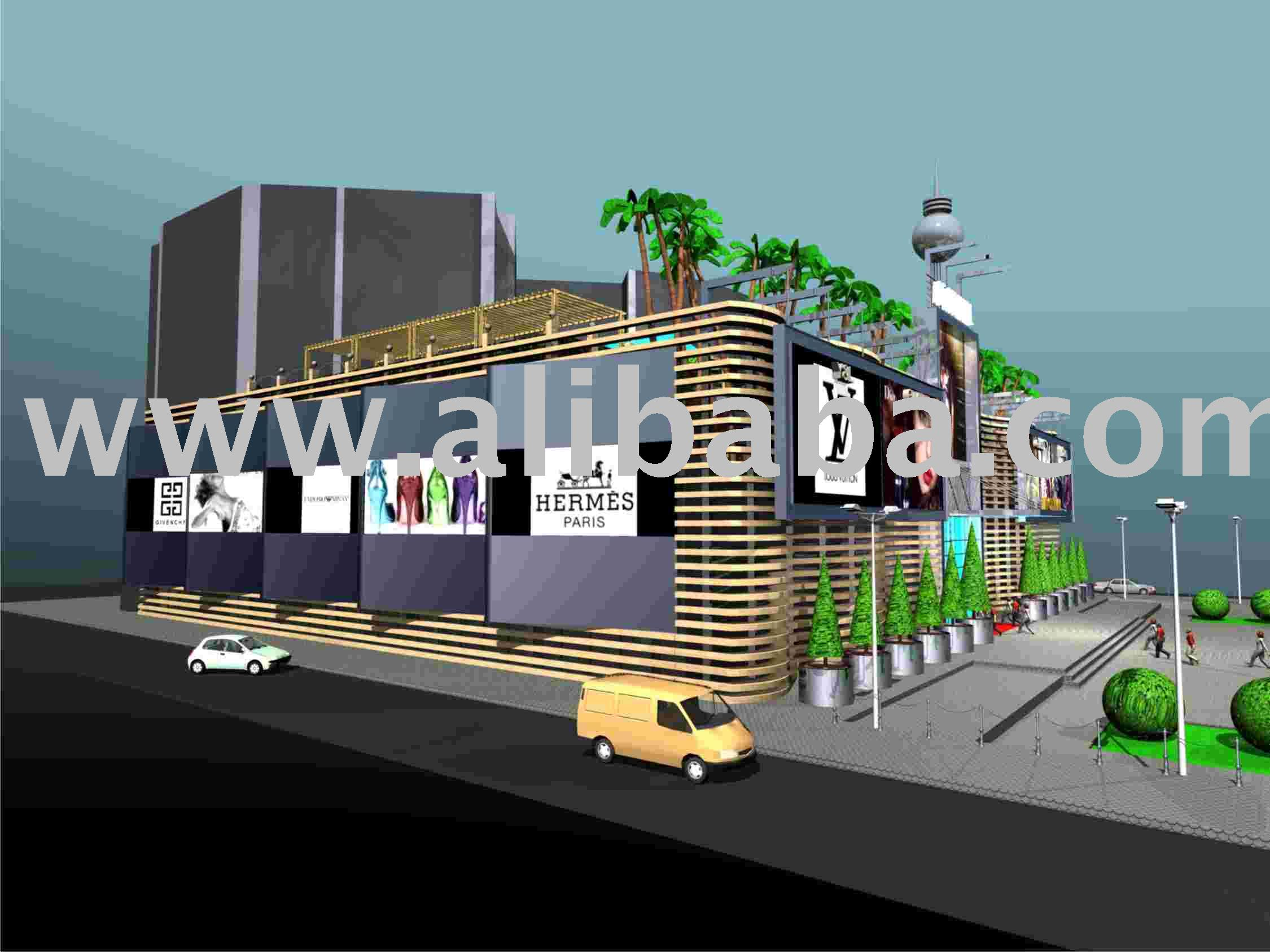Shopping Mall Architecture Project Design