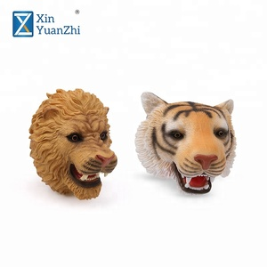 8 inch wild animal pvc lion hand puppet for preschool educational toys