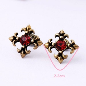 LLE02European And American Fashion Halloween Earrings Vintage Crystal Cross Ladies Earrings Jewelry Trade Assurance Services