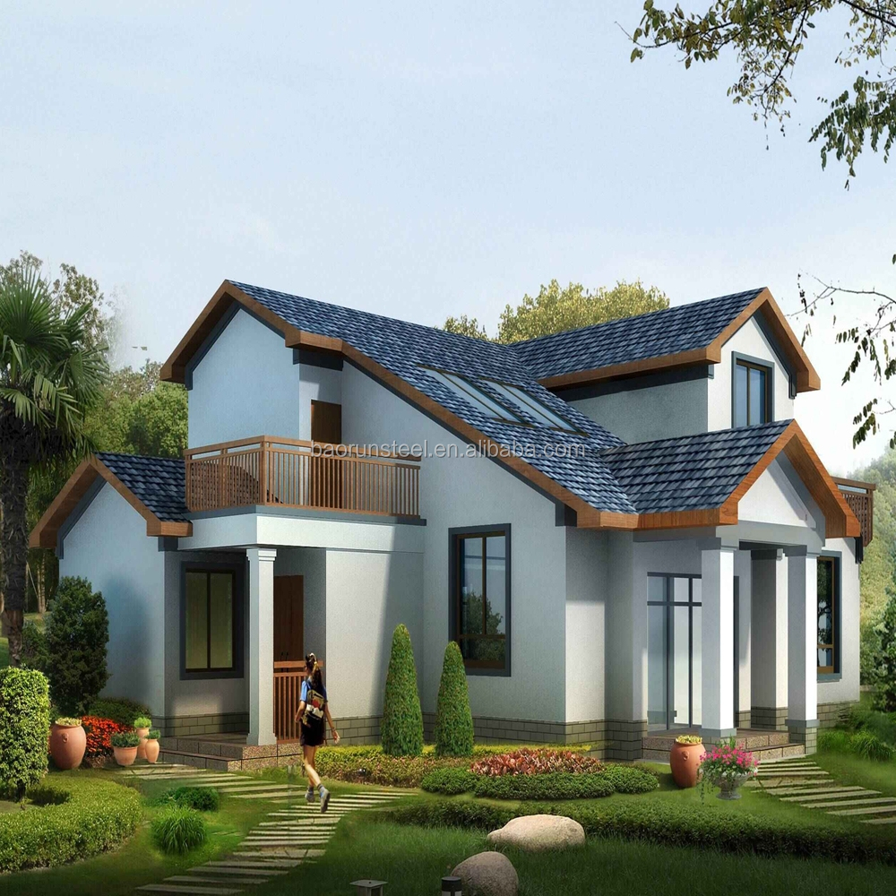 Qingdao Baorun High quality cheap prefabricated house& beautiful steel structure beach villa