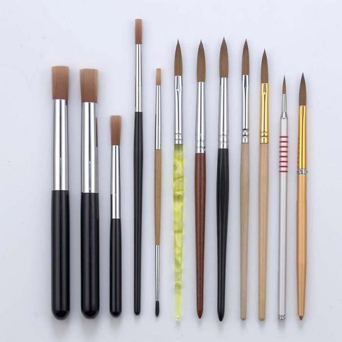 N166 Glitter Handle Kolinsky Oval Acrylic Nail Brush - Buy Nail ...