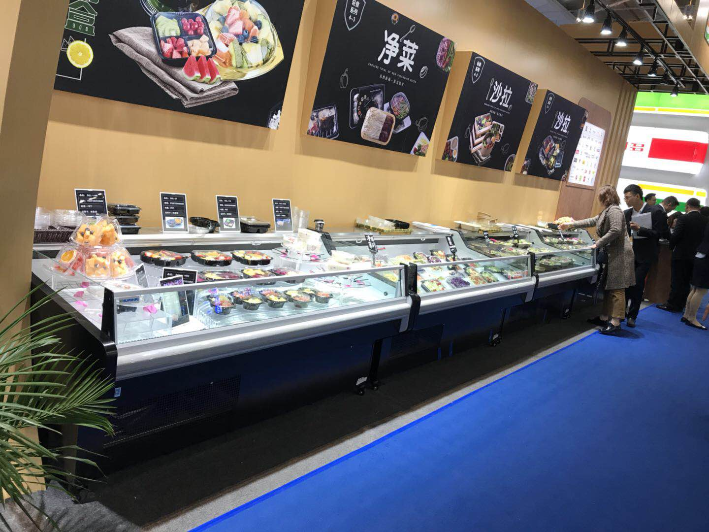 meat shop refrigerated fridge  fish display fridge cheese display fridge