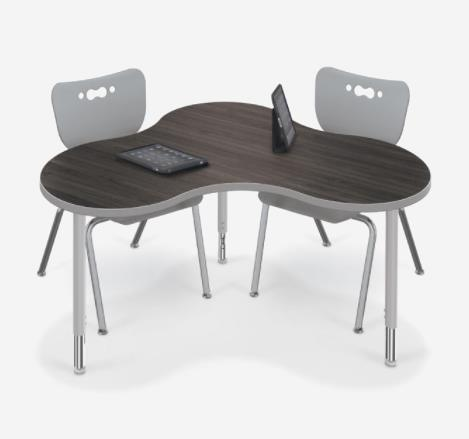 New Design Combination Polygon Table Chairs Combo School Furniture Table Chair Set For University School//