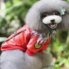 Chinese traditional jacket for pets, dog fur outwear red leather jacket pet