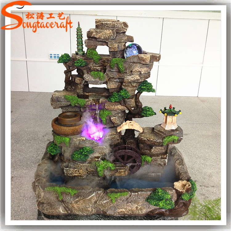 Alibaba China Artificial Fiberglass Indoor Water Fountain U0026Waterfall With  LED Light For Home Decor