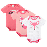 Fashion Fox Style Girl Rompers Short Sleeve 100% Cotton Newborn Baby Clothes Wholesale