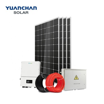 YuanChan Solar Panel System 20KW Solar System On Grid Home Solar Power System