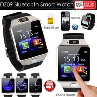 1.56 inch 2017 DZ09 Bluetooth SmartWatch With SIM Card For Apple Samsung IOS Android Cell phone