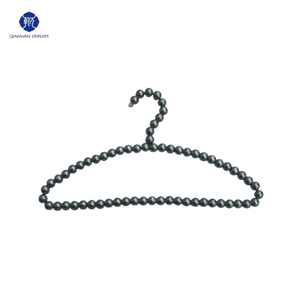 Wholesale Adults Stainless Steel Pearl Dress Hanger Stand for Fashion Display