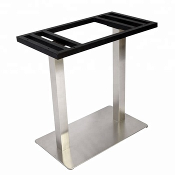 China Manufacturer Provide Rectangle Square Frame Brushed Stainless Steel Table Base