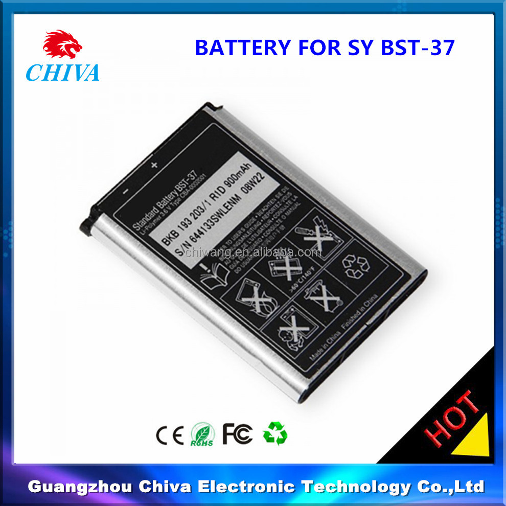 replacement mobile phone battery bst-37 bst37 for sony,BST-37 replacement mobile phone battery for Sony Ericsson
