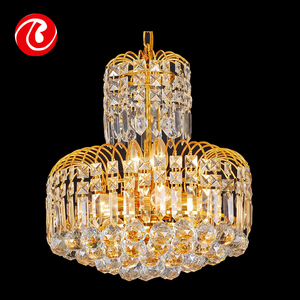 New style high reflective brass hanging crystal chandelier lamp