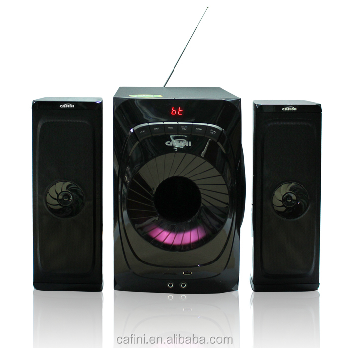 CAFINI best selling Computer 2.1 Active Subwoofer Speaker With USB/SD/FM/LED/Remote control