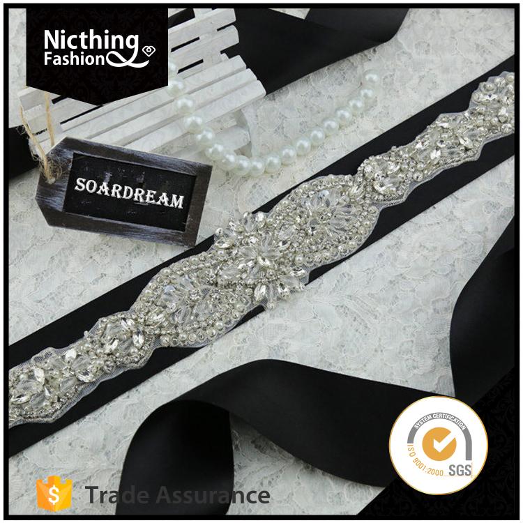 Groothandel ontwerp strass banding applique trim voor hoofdband nra118 product id 60341541977 - Appliques exterieures ontwerp ...