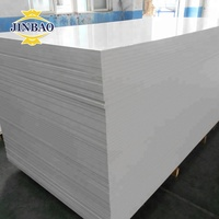 JINBAO hot sale low price 4x8ft celuka PVC sheet 1220x2440x10mm white color pvc foam board for kitchen cabinets