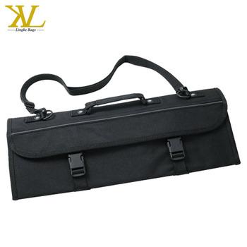 Custom 10 Pockets Tools Roll Pouch Chef Knife Holder Bag Set