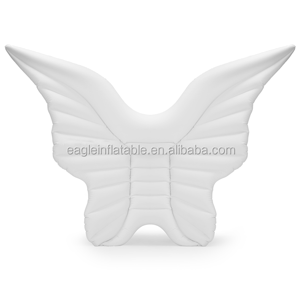 2017 Newest design customized PVC Inflatable float Angel wings / Butterfly wings plastic swimming pool float