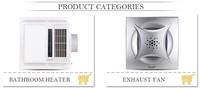 Wall Mounted Electrical Bathroom Fan Heater 2 Infrared Light ...