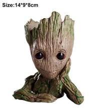 VODOOL ручка горшок карандаш держатель ребенок Грут фигурки дерево человек Милая модель игрушка ручка горшок стол органайзер для хранения под...(Китай)