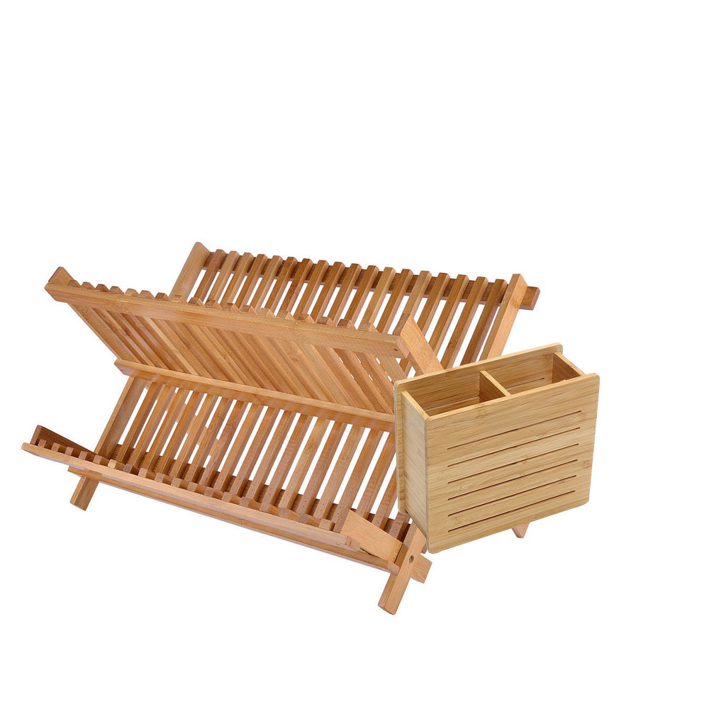 Kitchen Bamboo X Shaped Folding Dish Rack MSL Details