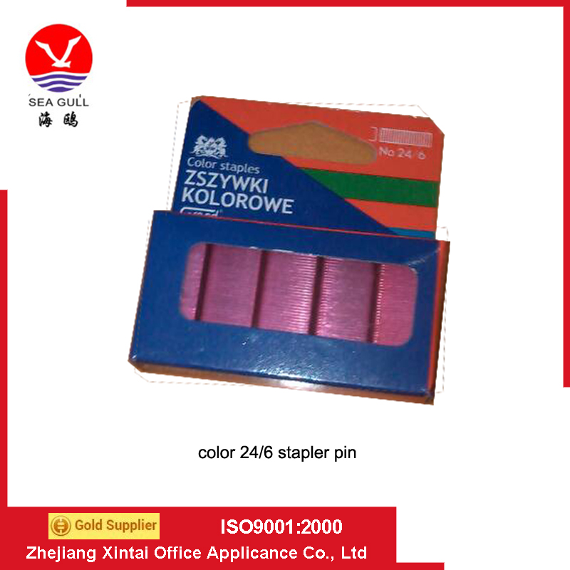 color staple pin staple pin 24/6 with best quality