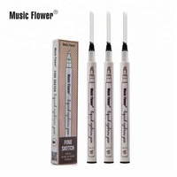 PRIVATE LABEL eyebrow pencil music flower 4 colors fine sketch microblading liquid eyebrow pencil tattoo