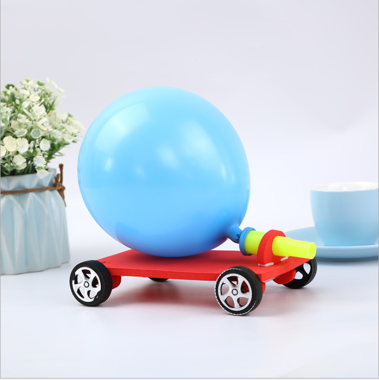 DIY science toys Balloon recoil car STEM educational kit
