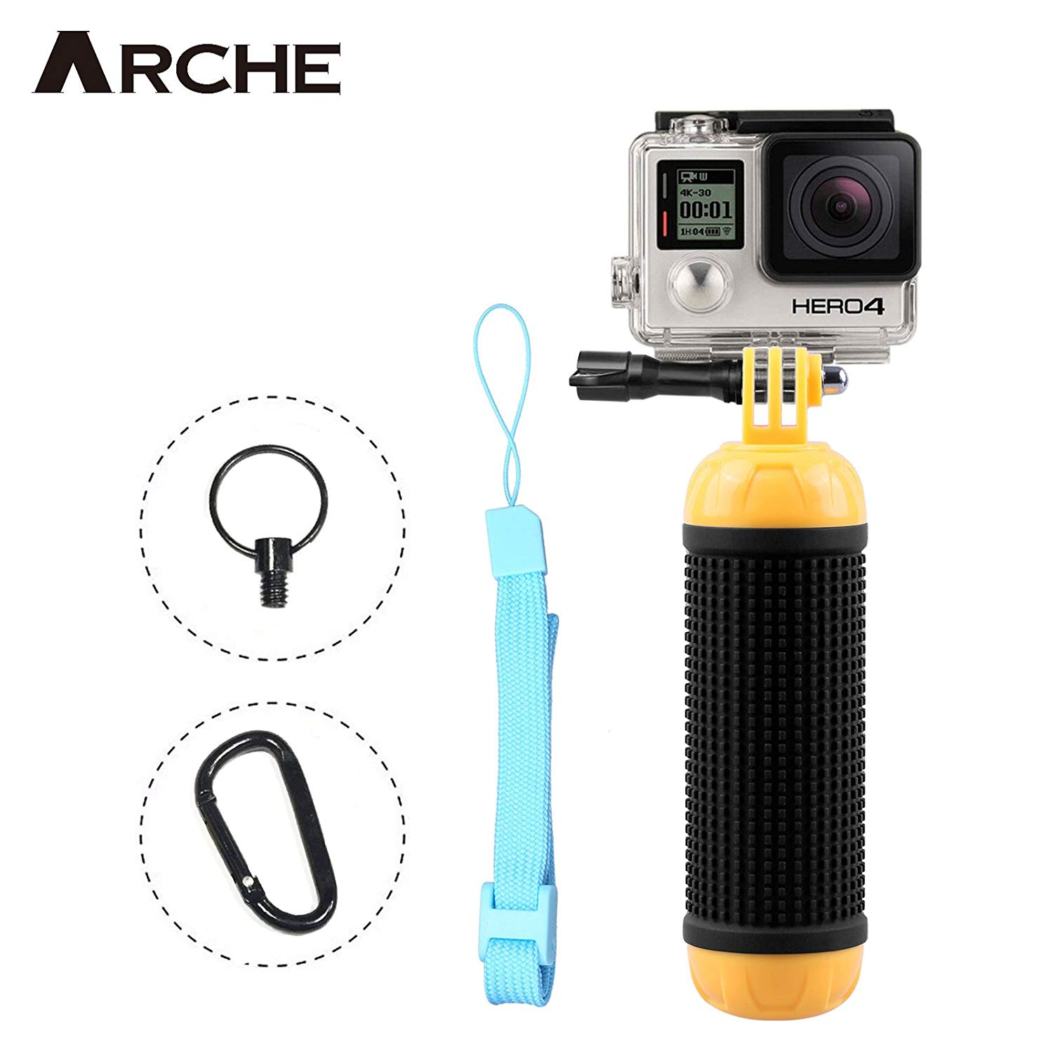 ARCHE Multifunctional Floating Hand Grip Bar for GoPro Fusion/Hero 6 Black Hero 6/5/Hero 5 Black/5 Session/4/3/3+/2/Hero Session