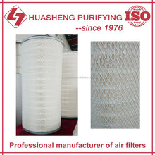 Power plant gas turbine air filter cartridge